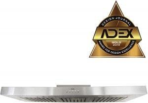 KOBE RAX2136SQB-1 36-inch Brillia Under Cabinet Range Hood, quietest under cabinet range hood