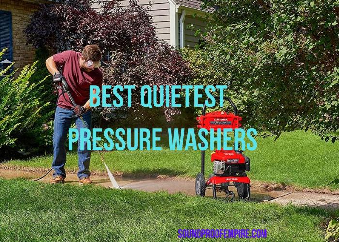 quietest pressure washer, silent pressure washer