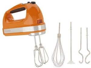 KitchenAid 9-Speed Digital Hand Mixer with Turbo Beater II Accessories, silent hand mixer