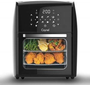 Caynel 12.5 Quart Digital Air Fryer with Rotisserie, Dehydrator, and Convection Oven
