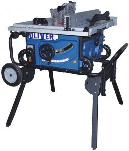 Oliver 10-Inch Quiet Jobsite Table Saw with Rolling Stand