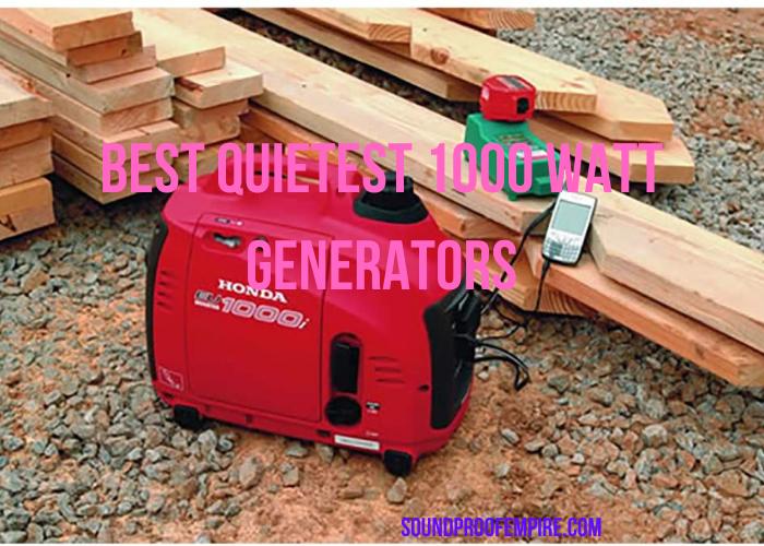 quietest 1000 watt generator