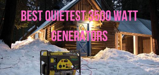 quietest 3500 watt generator