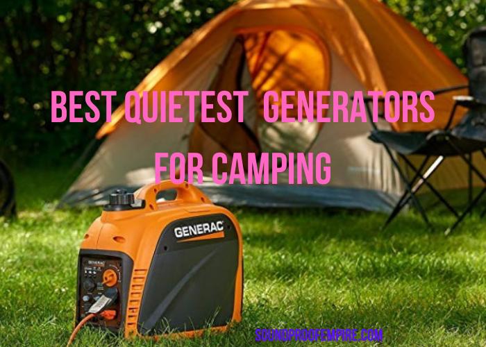 quietest generator for camping