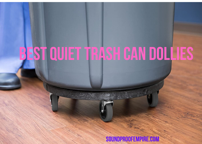 quiet trash can dolly