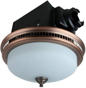 Akicon Ultra Quiet Round Exhaust Bathroom Fan with Light