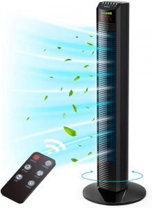 Homech Quiet Tower Fan with Remote