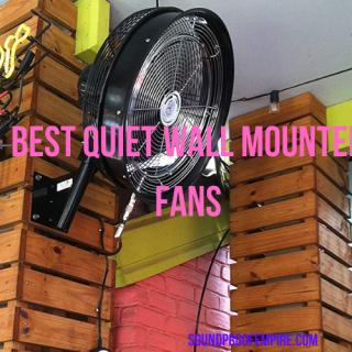 quietest wall mounted fan